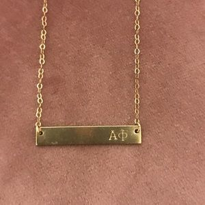 Jewelry - Alpha Phi Bar Necklace